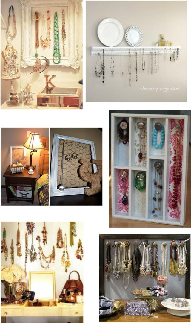 Como organizar suas jóias, acessórios, bijoux... colares.... lindos