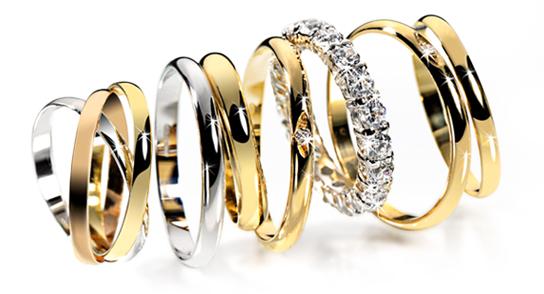 varias alinaças, noivas, noivado, casamento, ouro branco, ouro amarelo, diamantes, brilhantes