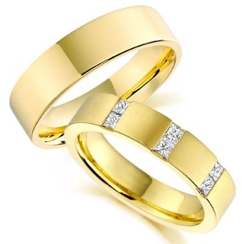 alianda de ouro amarelo, brilhantes, par, 18k