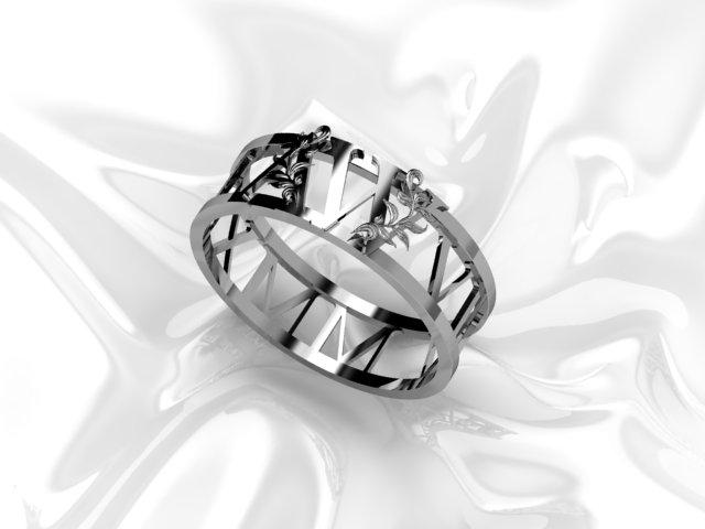 Argolas para guardanapos, uma joia para ser usada na sua mesa...  Com a data do casamento dos noivos em números romanos, e o monograma do casal.