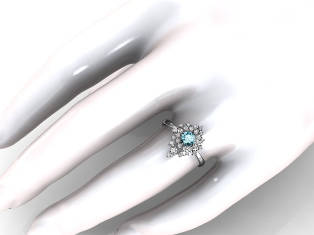 Anel Jet Set - Turmalina Paraiba - Ouro Branco - Diamantes (1)