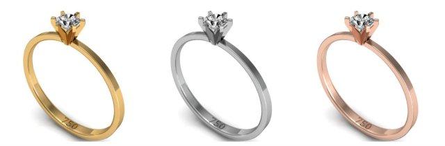 anel solitário para o dia dos namorados