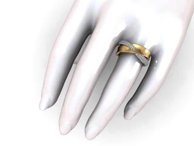 Aliança Feminina com Diamantes Trancada para mulheres glamorosas
