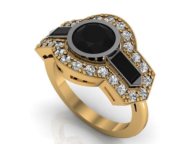Anel Tuffi Ouro 18k, diamantes e pedras preciosas (3)