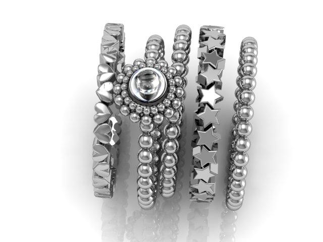 Anéis para se usar juntos