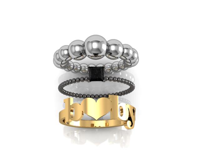 anéis Use todos juntos