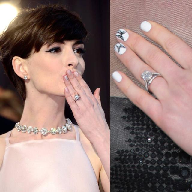Anne Hathaway anel de noivado