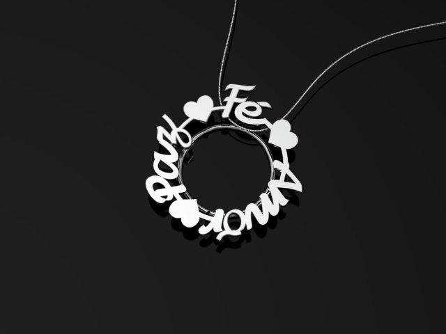 Fé Paz Amor - Mandala - Ouro Branco