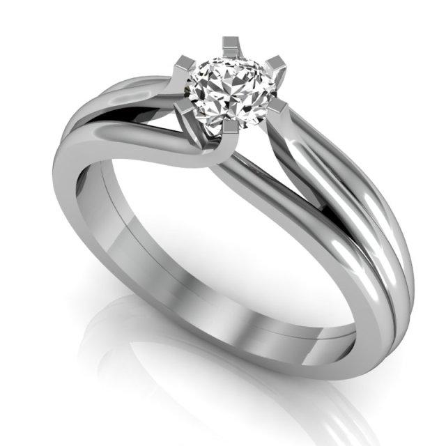 Lolla - Anel Solitário Ouro Branco e Diamante de 0,45 quilates (1)