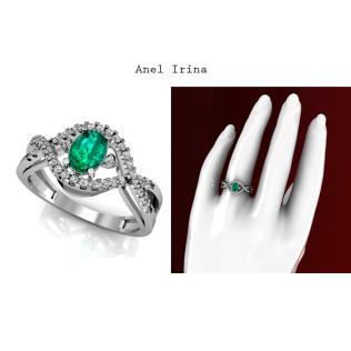 O Anel Irina é uma joia sofisticada, seu design evidencia a Esmeralda ao redor de 38 diamantes de 1 ponto cravejados. Esta joia é perfeita para mulheres de bom gosto e atitude. É um modelo moderno com pedras que refletem luxo e sofisticação. https://www.casasaopaulojoias.com.br/produto/735030/irina-anel-de-formatura-de-ouro-branco-com-esmeralda
