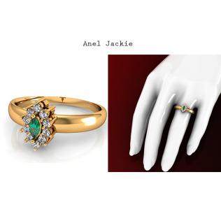 Anel Jackie é um modelo de Joia projetada com requinte e sofisticação. Ideal para mulheres que buscam em uma joia a concretização de um sonho. Este Anel possui uma esmeralda central com lapidação brilhante e 7 pontos e mais 10 diamantes de 1,5 pontos cada, cravejados ao redor. https://www.casasaopaulojoias.com.br/produto/735978/jackie-anel-de-formatura-com-esmeralda
