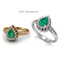 O anel Personality é ideal para noivas clássicas e elegantes. Consulte o valor por atendimento via whats-app: (011) 9.5851-5611 https://www.casasaopaulojoias.com.br/busca/esmeralda