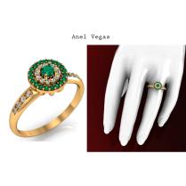 O design deste lindo anel evidencia uma esmeralda de 10 pontos cravejada no centro do anel e mais 12 pontos de diamantes cravejados em volta e 20 pontos de esmeraldas, e no aro mais 8 pontos de diamantes. Este modelo reflete luxo e desejo. Esta joia pode ser sua! Compre já! https://www.casasaopaulojoias.com.br/produto/735159/vegas-anel-de-formatura-de-ouro