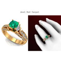 O anel Red Carpet seduz qualquer mulher com seu lindo design que traduzem o amor equilibrado e uma vida de sucesso. https://www.casasaopaulojoias.com.br/busca/esmeralda