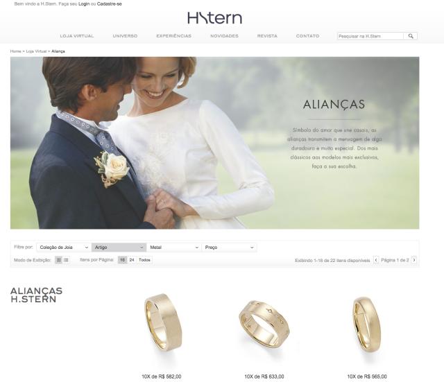 comprar no site da Hstern