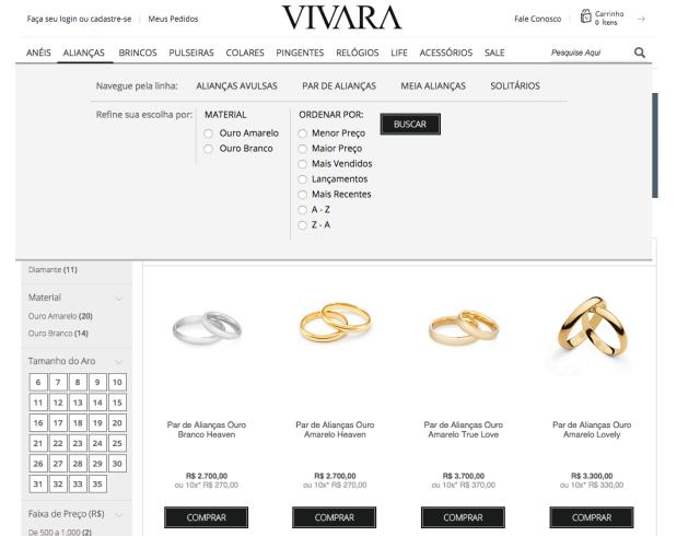 comprar no site da VIVARA