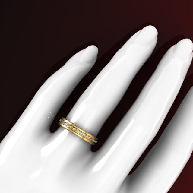 286307931_Concept - Aliança de Ouro Amarelo com diamantes - Feminina (2)