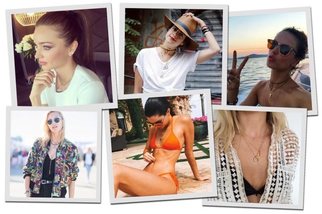 Sobreposição de colares é a nova mania das modelos para usar joias