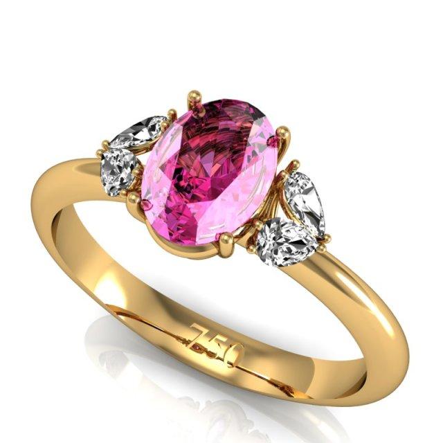 joias no tom rosa quartzo